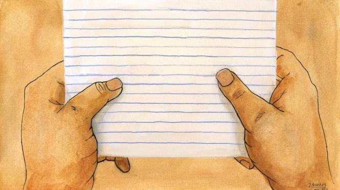 open - notebook paper and hands - jperkins