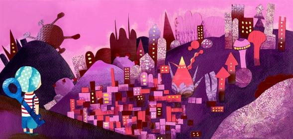 julie city illustration